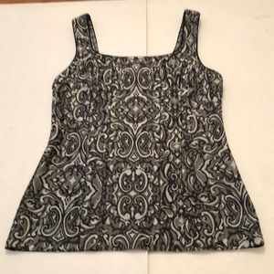 WHBM Black and Gray Tank Top with seaming